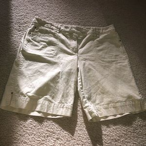 Tan Embroidered Shorts